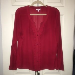 Candies size: XL red, long sleeve women's blouse